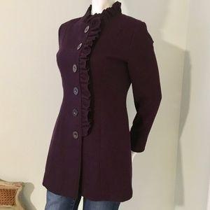 Tulle Wool blend coat